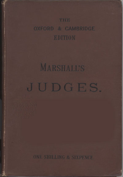 Frank Marshall [1848-1906], The Book of Judges with Maps, Notes, and Introduction