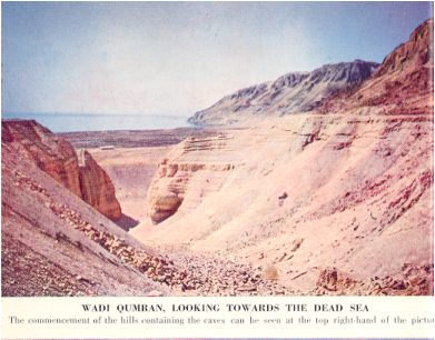 Wadi Qumaran, Looking Towards the Dead Sea